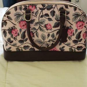 Coach mini floral satchel